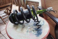 railroad spring craft projects | Coil spring wine bottle holder on Etsy, $75.00