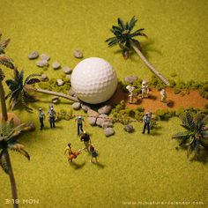 Hole in one? miniature photography