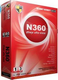Get N360 Internet Security 2012 For 1 Year 3 User at price Rs. 159 Only. N360 is the lightest Antivirus in the World & doesn't slow down your PC/Laptop. N360 Antivirus software work for Microsoft Windows 7 / Vista / XP / 2000 and Windows Server 2008 and 2003.
