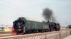 150 Jahre Eisenbahn in Österreich...Dampfschneeschleuder 986.107 Strasshof 12.09.1987 (25/163)