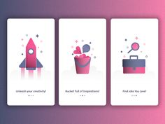 Dribbble Onboarding Screens - Concept (.sketch file download)  by Vivek Karthikeyan