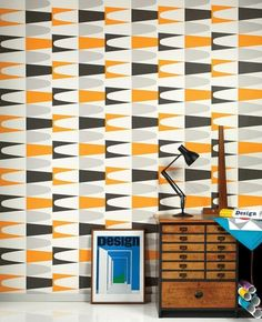 Carnival Orange Wallpaper available to buy online. A Wayne Hemingway Carnival Retro Wallpaper from Superfresco at best online price. Order today for quick delivery. Retro Wallpaper, Wallpaper Online, Wallpaper Samples, Geometric Wallpaper, Print Wallpaper, Pattern Wallpaper, Graphic Wallpaper, Midcentury Wallpaper, Kitchen Wallpaper