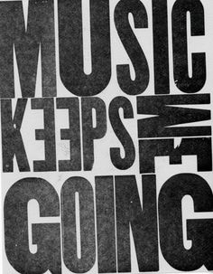 Music keeps me going. *While writin sum resume of course or keep me awake while keep my patient still alive..how ironic