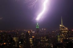 This fantastic image of the Empire State Building being hit by lightning was taken on June 9, 2011. A violent thunderstorm passed through the city that brought torrential rains and hail. Whether this marked the last storm of spring or the first of summer, it seems the weather gods were out to give New Yorkers some excitement!