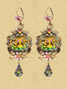 Handmade jewelry and accessories, fashion and home décor handcrafted by jewelry designer Michal Negrin. Shop online for vintage inspired, original fashion jewelry designs Stone Jewelry, Jewelry Art, Jewelry Design, Michal Negrin, Jewel Box, Jewelry Organization, Jewelery, Dangle Earrings, Dangles