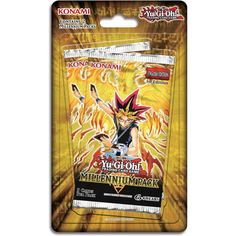 Yu-Gi-Oh!: Millennium Pack 1st Edition Booster 10 Pack Bundle. 10 Packs per Shipment/ 5 Cards per pack Dozens of old favorites from the original Yu-Gi-Oh! TV series get a whole new look with the Millennium Pack! This 48-card expansion set for the Yu-Gi-Oh! Trading Card Game includes over 20 variant artwork illustrations for classic cards like Thousand Dragon, Flame Swordsman, Widespread Ruin, Kunai with Chain, and Celtic Guardian.