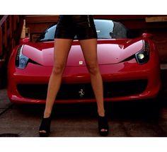 Red car/ model Fallon Rivers Photoshoot ideas
