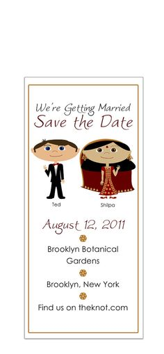 Indian couple: Save the Date!