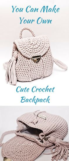 Make your own Cute Crochet Backpack #etsy #ad #pattern