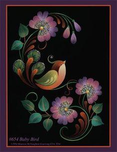 654 Classic Baby Birds #pinturadecorativa