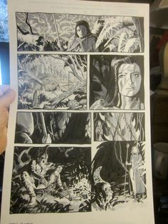 Tom Yeates Original Comic Art Page #5 highly detailed incredible art