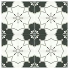 Merola Tile Twenties Crest 7-3/4 in. x 7-3/4 in. Ceramic Floor and Wall Tile-FRC8TWCS at The Home Depot