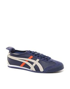 Onitsuka Tiger Mexico 66 Leather Trainers in Blue