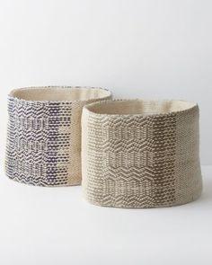 Eileen Fisher Woven Cotton Storage Basket Ivory Oyster NEW Garnet Hill Blanket Basket, Clearance Rugs, Bedding Basics, Basket Decoration, Diy Planters, Storage Baskets, Bath Storage, Eileen Fisher, Getting Organized