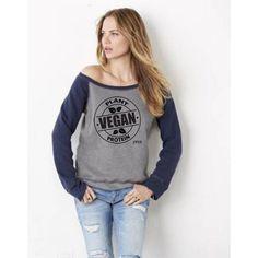 ec30f077a8da6 FTLA Apparel Off the Shoulder Tri-blend Eco Fleece Sweatshirt – Vegan Plant  Protein