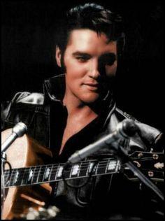 on Elvis Comeback Special) For me, he was never sexier than on this special.Elvis Comeback Special) For me, he was never sexier than on this special. Lisa Marie Presley, Priscilla Presley, Musica Elvis Presley, Elvis 68 Comeback Special, Elvis Presley Pictures, People Of Interest, Most Handsome Men, Graceland, Rock N Roll