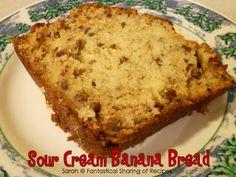 Fantastical Sharing of Recipes: Sour Cream Banana Bread