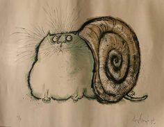 Hermit Cat - Ronald Searle
