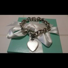 Tiffany&co Heart Tag Bracelet Tiffany&co sterling silver 925 Heart Tag Bracelet 7  1/2 in Tiffany&co  Jewelry Bracelets