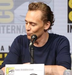 Tom Hiddleston Loki at Hall H Comic Con Panel. CON H PANEL SERIES #3: Cast of Thor Ragnarok. Source: https://www.instagram.com/p/BbZwYdKDrJU/