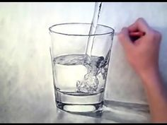 3D looking WATER/GLASS drawing - look for beauty in the mundane - Theportraitart video - YouTube