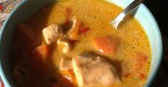Fisksoppa på lax och sej.  900 l av denna soppa har kokats till Svensk Fisks utställning i Nordstan i Göteborg.