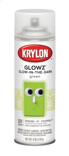 Krylon Glowz Aerosol Spray Paint, Glow-In-The-Dark: The product is Glow In Dark Paint. Elegant design and Finish. The product is manufactured in United States. Glow In Dark Paint, Glow Paint, Best Chalk Paint, Aerosol Spray Paint, Stainless Steel Paint, Fall Containers, Cement Crafts, Diy Papier, Thing 1