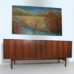 Arne Vodder rosewood tambour sideboard for Sibast, 1960s, Denmark