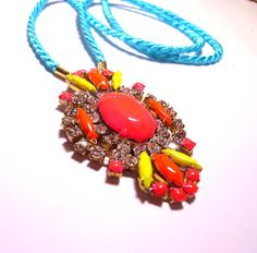 One of a Kind  Neon Hand painted Long Vintage by PureEssentia, $105.00