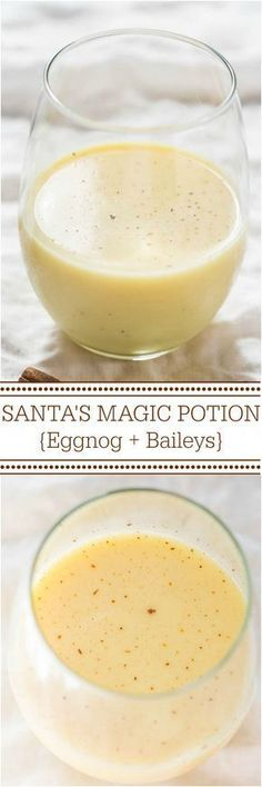 Santa's Magic Potion {Eggnog and Baileys} - Have eggnog to use? This drink is smooth, creamy, and puts your 'nog to great use! Mmm!