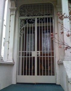 Decorative Wrought Iron Porch Enclosure For Security