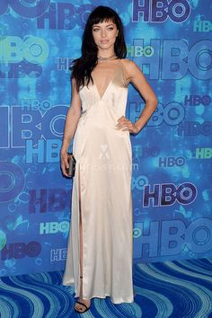 francesca eastwood simple flirty champagen satin evening prom dress