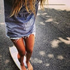 The shorts are to short but I like the idea of a long shirt over shorts