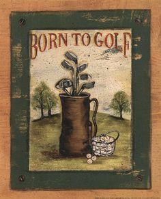 Born to Golf Fine-Art Print by Grace Pullen at UrbanLoftArt.com