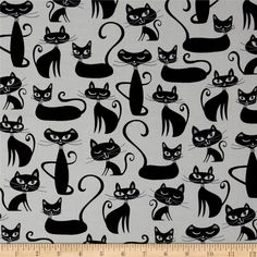 cats cotton for clothing and crafts fun print Cat fabric pet material