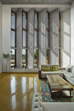 29 New Ideas For Home Modern Interior Open Concept Home Room Design, Home Interior Design, Interior And Exterior, Interior Decorating, Interior Designing, Living Room Windows, Living Room Art, Living Room Designs, Architecture Design