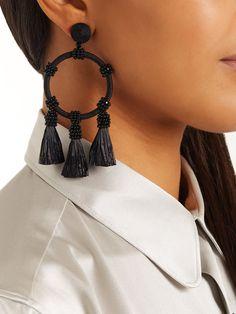 Tassel-drop hoop earrings | Oscar De La Renta | MATCHESFASHION.COM