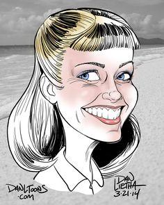 Caricature of Olivia Newton-John