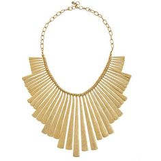 Lucky Brand Paddle Necklace ($45) ❤ liked on Polyvore featuring jewelry, necklaces, accessories, collane, collares, gold, statement necklace, long necklace, long statement necklace y collar jewelry