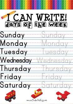 I Can Write Days of the Week, Months of The Year, Alphabet Tracing and Copying Activity Pack