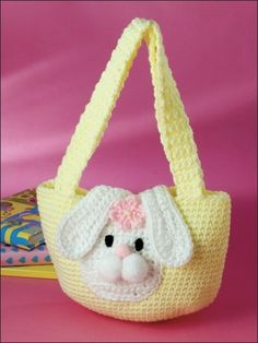 Bolsa para. Niña con un conejo .