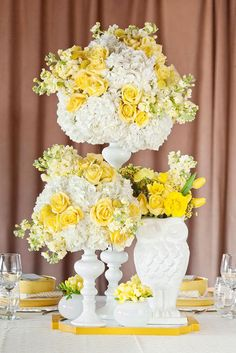 55 best yellow wedding theme images on pinterest yellow wedding loving these bright yellow and white centerpieces by a stylish soiree photo by perez photography mightylinksfo