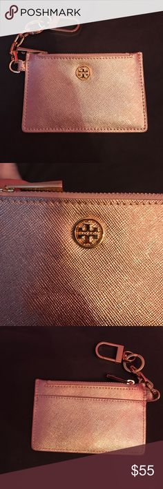 Tory Burch Key Fob - Rose Gold Rose Gold Tory Burch Key Fob. In great condition! Can hold up to five cards, and one in the exterior pocket. Originally purchased it on posh. Tory Burch Accessories Key & Card Holders