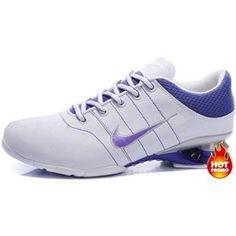 fda32e53998d Womens Nike Shox R2 White Purple Blue Nike Shox For Women