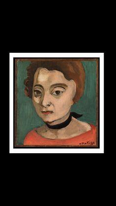 Henri Matisse - Marguerite with a black velvet ribbon, 1916 - Oil on wood - 19,1 x 17,8 cm - New York, The Metropolitan Museum of Art
