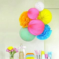 Beautiful paper decoration for birthday party baby shower