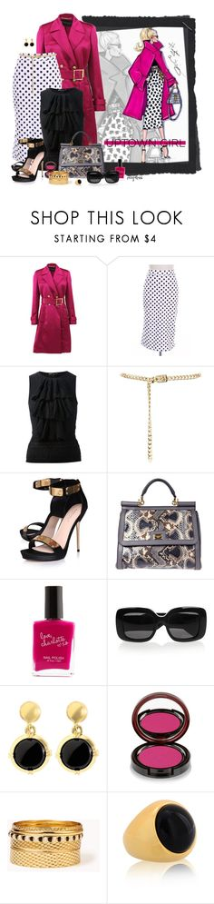 """""""The Uptown Girl"""" by exxpress ❤ liked on Polyvore featuring Versace, Ralph Lauren Black Label, Carvela Kurt Geiger, Dolce&Gabbana, Charlotte Russe, Bottega Veneta, Brooks Brothers, Kevyn Aucoin, Forever 21 and Pink"""