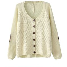 Chicnova Fashion Grandpa Cardigan ($13) ❤ liked on Polyvore featuring tops, cardigans, sweaters, jackets, long cable knit cardigan, cardigan top, long tops, lightweight long cardigan and cable cardigan
