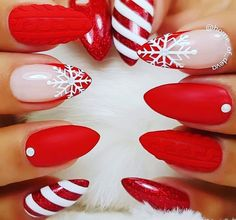 30 Festive and easy Christmas nail art designs you must try. - juelzjohn - 30 Festive and easy Christmas nail art designs you must try. – juelzjohn 30 Festive and easy Christmas nail art designs you must try Red Christmas Nails, Xmas Nails, Christmas Ideas, Christmas Crafts, Christmas Ornaments, Snow Nails, Christmas Time, Christmas Candy, Christmas Naila