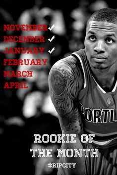 Damian Lillard Named NBA Western Conference Rookie Of The Month For January